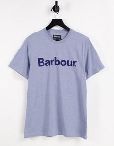 Синяя футболка с крупным логотипом Barbour Ardfern-Голубой