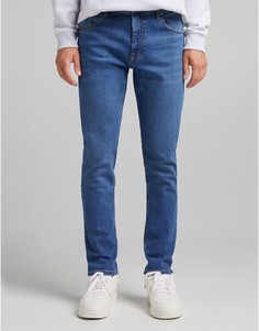 Узкие джинсы голубого цвета Bershka-Голубой