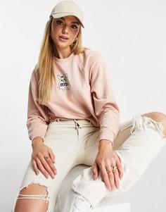 Персиковый свитшот с круглым вырезом в винтажном стиле Levis-Розовый цвет