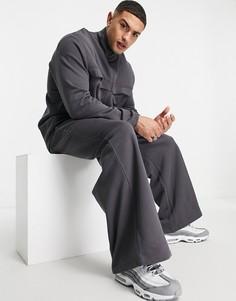 Черные выбеленные джоггеры с широкими штанинами в стиле oversized от комплекта ASOS DESIGN-Черный цвет