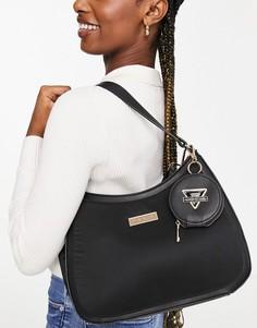 Черная сумка через плечо с кошельком овальной формы River Island-Черный цвет