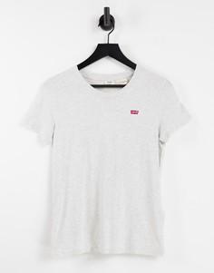 Серая футболка Levis Perfect Tee-Серый