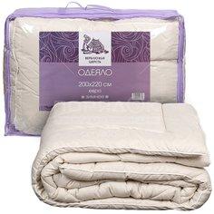 Одеяло евростандарт, 200 х 220 см, Верблюжья шерсть, 400 г/м2, зимнее, чехол микрофибра, кант