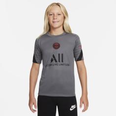 Игровая футболка с коротким рукавом для школьников Nike Dri-FIT Paris Saint-Germain Strike - Серый