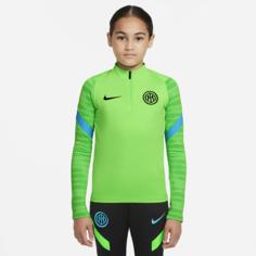 Футболка для футбольного тренинга для школьников Nike Dri-FIT Inter Milan Strike - Зеленый