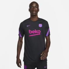 Мужская игровая футболка с коротким рукавом Nike Dri-FIT FC Barcelona Strike - Черный
