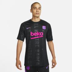 Мужская предматчевая игровая футболка Nike Dri-FIT FC Barcelona - Черный