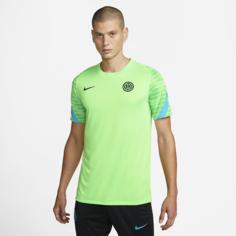 Мужская игровая футболка с коротким рукавом Nike Dri-FIT Inter Milan Strike - Зеленый