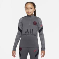 Футболка для футбольного тренинга для школьников Nike Dri-FIT Paris Saint-Germain Strike - Серый