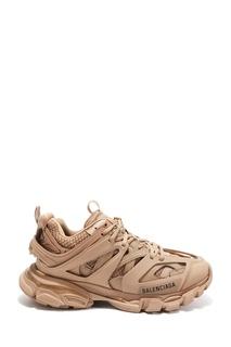 Бежевые кроссовки Track Balenciaga