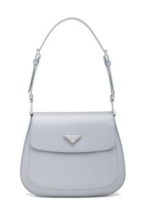 Серо-голубая сумка Prada Cleo