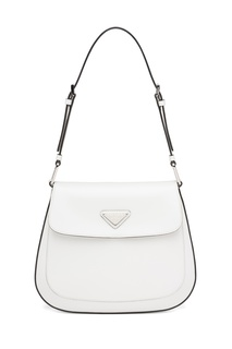 Белая сумка Prada Cleo