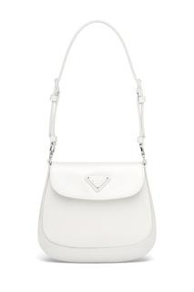 Белая сумка-мини Prada Cleo