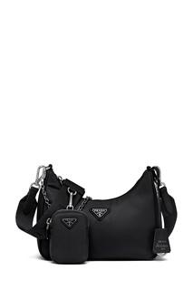 Черная текстильная сумка Prada Re-Edition 2005