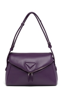 Фиолетовая кожаная сумка Prada Signeaux