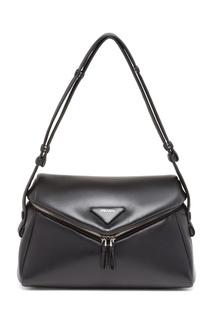 Черная кожаная сумка Prada Signeaux