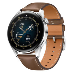 "Смарт-часы Huawei Watch 3 Galileo-L21E, 1.43"", серебристый / коричневый [55026813]"