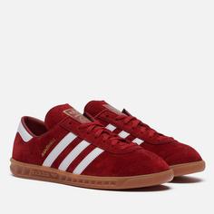 Кроссовки adidas Originals Hamburg, цвет красный, размер 46 EU