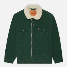 Мужская куртка Levis Type III Sherpa Trucker, цвет зелёный, размер XL