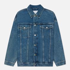 Мужская джинсовая куртка Calvin Klein Jeans Extreme Oversized, цвет синий, размер XL