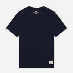 Мужская футболка Alpha Industries Essential, цвет синий, размер XXL