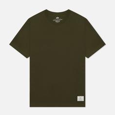 Мужская футболка Alpha Industries Essential, цвет оливковый, размер L