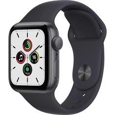 Смарт-часы Apple Watch SE 44 мм темная ночь, спортивный ремешок