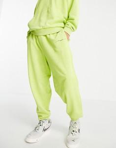 Зеленые oversized-джоггеры с эффектом кислотной стирки и текстовым принтом от комплекта ASOS DESIGN-Зеленый цвет