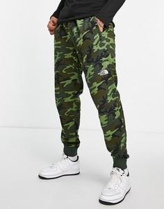 Джоггеры с камуфляжным принтом The North Face NSE-Зеленый цвет