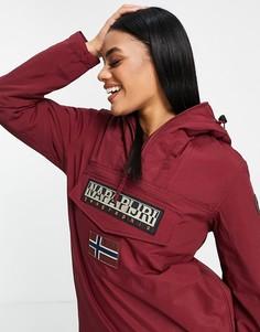 Бордовая зимняя куртка Napapijri Rainforest-Красный