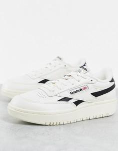 Черно-белые кроссовки Reebok Club C Double-Белый