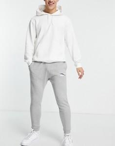 Серые джоггеры с логотипом Reebok Core-Серый
