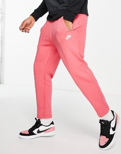 Розовые суженные книзу джоггеры Nike Club-Розовый цвет