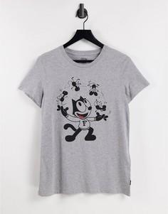Серая свободная футболка с короткими рукавами и графическим принтом Levis x Felix-Серый