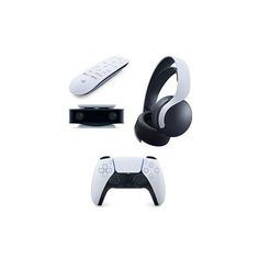 Геймпад беспроводной PlayStation DualSense с пультом ДУ Media Remote, HD-камерой и беспроводной гарнитурой Pulse 3D, для PlayStation 5, белый/черный Sony