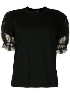 Comme Des Garçons Noir Kei Ninomiya футболка с прозрачными объемными рукавами