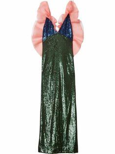 Carolina Herrera платье с пайетками и сборками