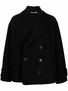 Valentino двубортное пальто из смесовой шерсти