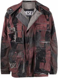Diesel джинсовая куртка с принтом