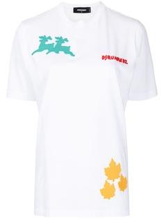 Dsquared2 футболка с нашивками