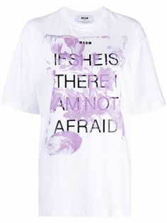 MSGM футболка с принтом