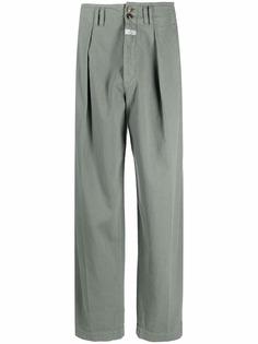 ETRO брюки с завышенной талией и складками
