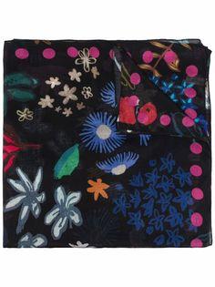 PAUL SMITH шарф с цветочным принтом