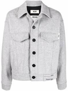 MSGM фетровая куртка из переработанной шерсти
