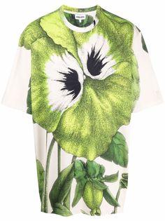 Kenzo футболка свободного кроя с цветочным принтом
