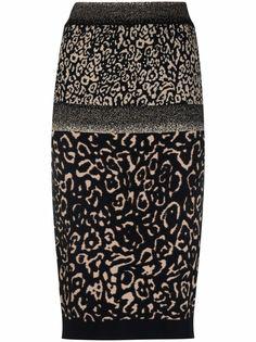 LIU JO юбка с леопардовым принтом