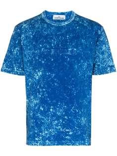 Stone Island футболка с эффектом потертости