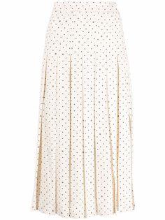 Fendi шелковая юбка с узором Karligraphy