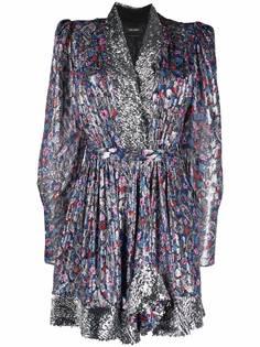Isabel Marant платье мини с принтом пейсли и пайетками