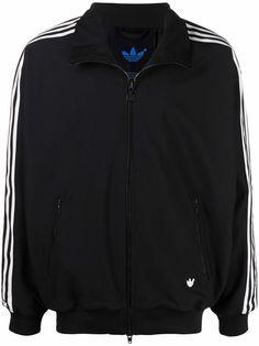 adidas спортивная куртка на молнии с полосками